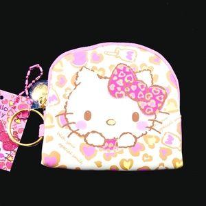 Sanrio Hello Kitty Coin Purse Key Chain Hearts